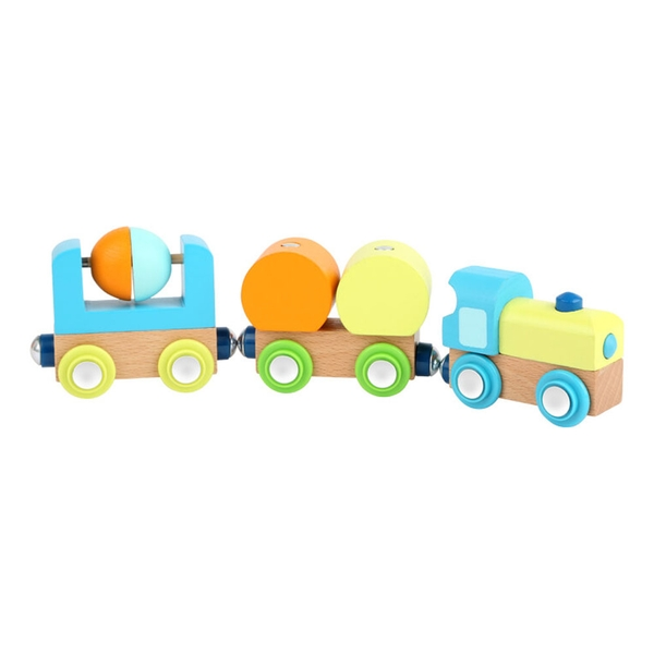 Legler - Small Foot Children's Wooden Junior Train Toy Set (Multi-colour)