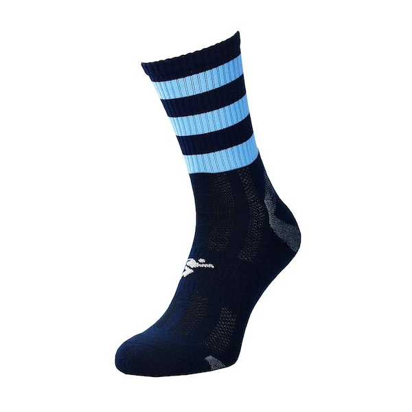 Precision Pro Hooped GAA Mid Socks Junior Navy/Sky - UK Size J12-2