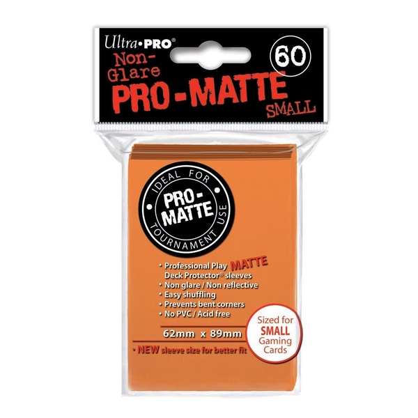 Ultra Pro Pro-Matte Orange Small Deck Protectors - 60 Sleeves