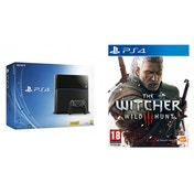 PlayStation 4 (500GB) Black Console + The Witcher 3