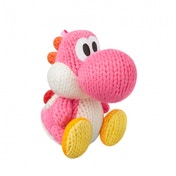 Ex-Display Pink Yarn Yoshi Amiibo (Yoshi's Woolly World) for Nintendo Wii U & 3DS Used - Like New