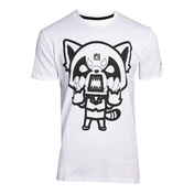 Aggretsuko - Retsuko Rage I Wanna Eat Men's Medium T-Shirt - White