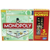 Monopoly Classic + 5 Limited Edition Tokens Board Game