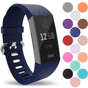 YouSave Fitbit Charge 3 Silicone Strap - Small - Dark Blue