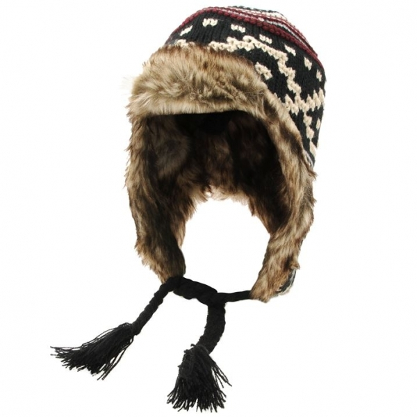 Hey! Stay with us... Airwalk Knit Trapper Hat Mens Black 8fcea23503c
