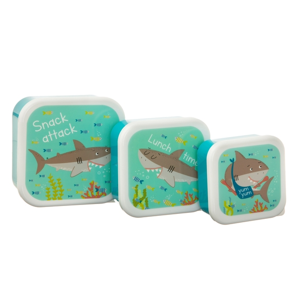 Sass & Belle Set of 3 Shelby the Shark Lunch Boxes