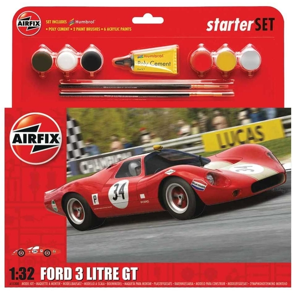 Ford 3 Litre GT Large Starter Set Airfix 1:32 Model Kit