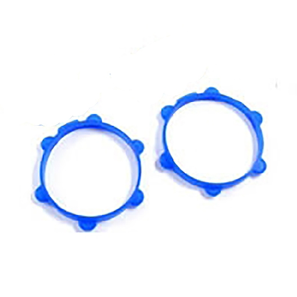 Fastrax 1/10Th Rubber Tyre Bands Blue (Pair)
