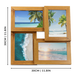 """Four 6 x 4"""" Aperture Multi Picture Wood Photo Frame for Free Standing or Wall Mounted Photos 