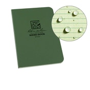 Rite In The Rain Memo Book, Side Bound Field Flex Cover 3.5 x 5 Inch - Green