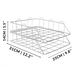 A4 Wire Filing Trays | M&W Silver - Image 7