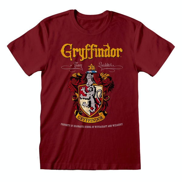 Harry Potter - Gryffindor Red Crest Unisex Small T-Shirt - Maroon