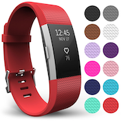 Yousave Fitbit Charge 2 Strap Single (Large) - Red