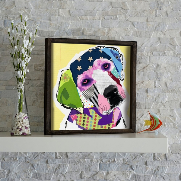 KZM470 Multicolor Decorative Framed MDF Painting