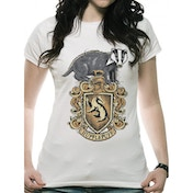 Harry Potter - Hufflepuff Women's Small T-Shirt - White