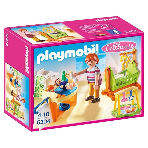 Playmobil Dollhouse Baby Room with Cradle