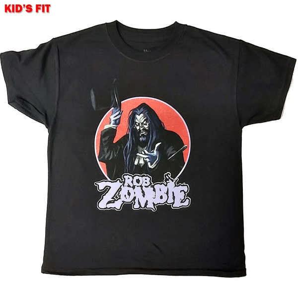 Rob Zombie - Magician Kids 7 - 8 Years T-Shirt - Black
