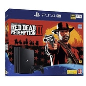 PlayStation 4 Pro (1TB) Black Console with Red Dead Redemption 2