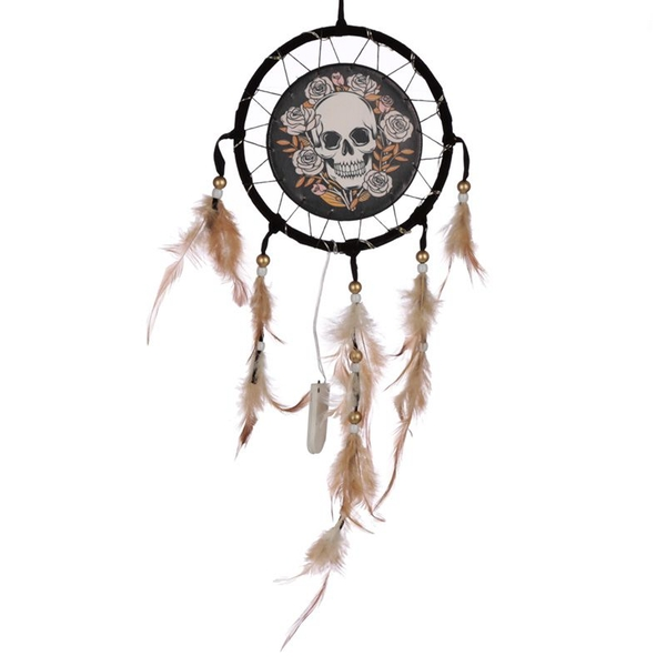 Skulls & Roses Design LED Dreamcatcher
