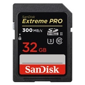 SanDisk SDHC Extreme Pro 32GB, UHS Speed Class U3, UHS-II, 300MB/s