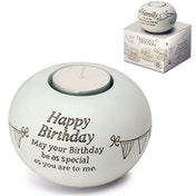 Said with Sentiment Tea Light Holders Happy Birthday
