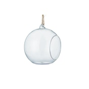 Set of 6 Clear Hanging Bauble Tealight Candle Holders