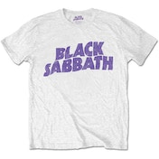 Black Sabbath - Wavy Logo Kids 9 - 10 Years T-Shirt - White