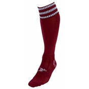 Precision 3 Stripe Pro Football Socks Junior UK 3-6  Maroon/White