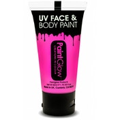 (5 Pack) PaintGlow UV Neon Face & Body Paint (Pink) 50ml