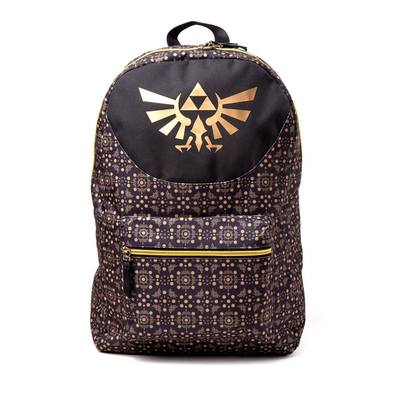 Nintendo - Legend Of Zelda All-Over Pattern Print Backpack - Gold/Black