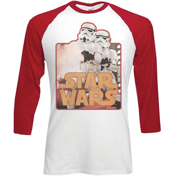 Star Wars - Storm Troopers Unisex X-Large T-Shirt - Red,White