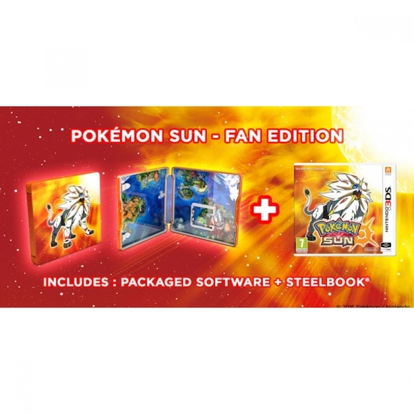 Ex-Display Pokemon Sun Fan Edition 3DS Game - Image 5