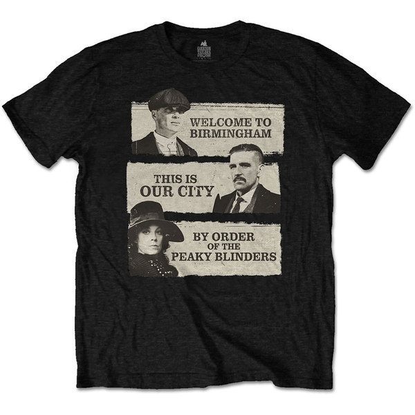 Peaky Blinders - This Is Our City Unisex X-Large T-Shirt - Black