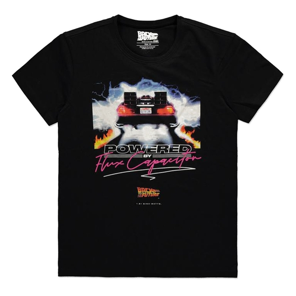 Universal - Powered By Flux Capacitor Mens X-Large T-Shirt - Black