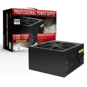 Evo Labs E-500BL 500W 120mm Black Silent Fan PSU UK Plug