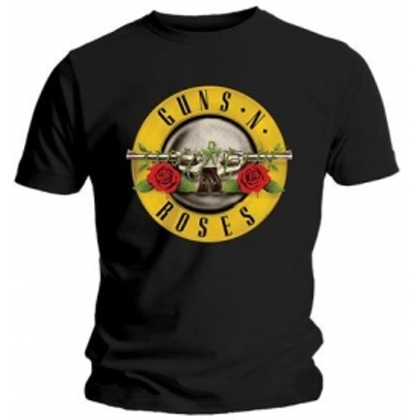 Guns N Roses Classic Logo Mens Black T Shirt Large