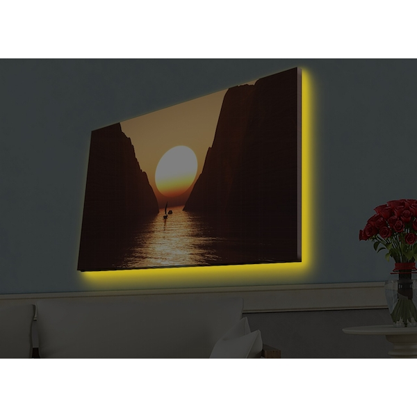 4570HDACT-066 Multicolor Decorative Led Lighted Canvas Painting