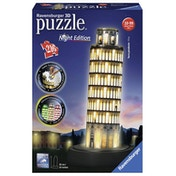 Ravensburger Leaning Tower of Pisa - Night Edition 216 Piece 3D Jigsaw Puzzle