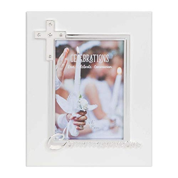 "4"" x 6"" - Silver Plated & Epoxy Photo Frame - Communion"
