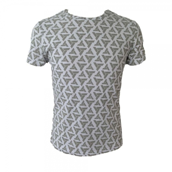 Assassin's Creed Abstergo Logo All-Over Print Large T-Shirt - Light Grey