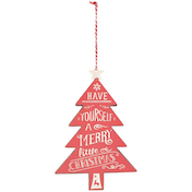Red Xmas Hanging Tree Decoration