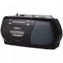 Groov-e GVPS575BK  Retro Series Portable Cassette Player/Recorder with Radio Black UK Plug