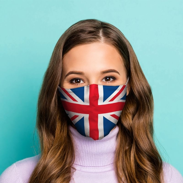 Great Britain Union Jack Flag Reusable Face Covering - Large