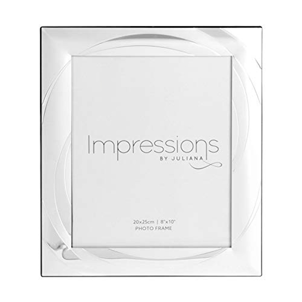 """8"""" x 10"""" - Impressions Silver Plated Photo Frame with Swirl"""