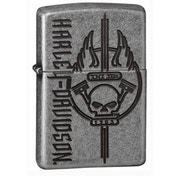 Zippo Harley Davidson Antique Silver Plate