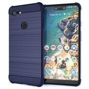 CASEFLEX GOOGLE PIXEL 3 XL CARBON ANTI FALL TPU CASE - BLUE