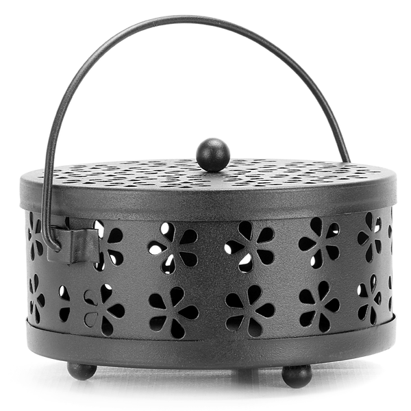 Metal Incense Holder | Insect Repellent | Home Fragrance | M&W Black - Image 1