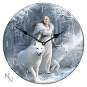 Winter Guardians Glass Clock