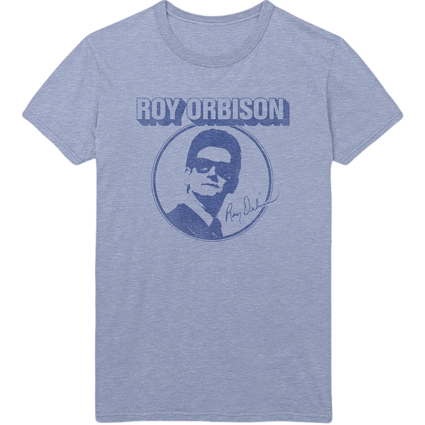 Roy Orbison - Photo Circle Men's Small T-Shirt - Blue