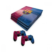 Official Barcelona FC PS4 Pro Console Skin and 2x Controller Skin Combo Pack